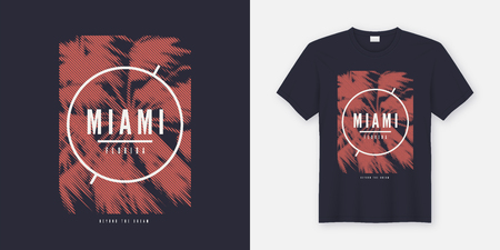 Miami Beyond the dream t-shirt and apparel trendy design with st
