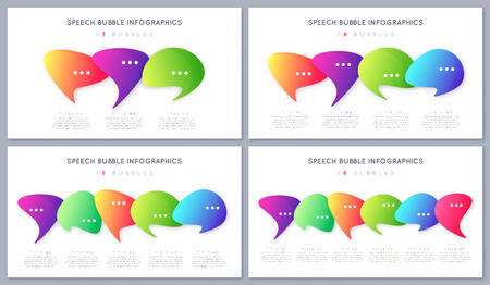 Set of modern infographic designs, templates, concepts