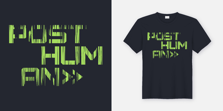 Posthuman t-shirt and apparel design, typography, print, vector