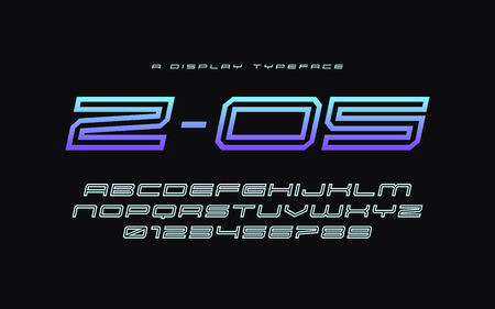 Z 05 vector display typeface, font, alphabet, typography Global swatches