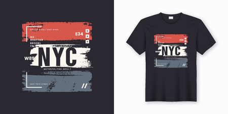 New York City stylish t-shirt and apparel abstract design. Vector print, typography, poster. Global swatches. Stock fotó - 109908879