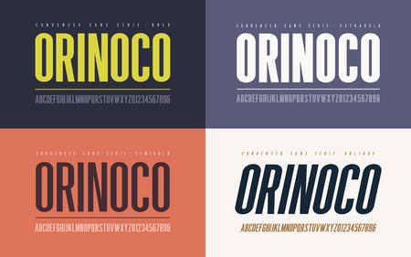 Orinoko condensé gras, semi-gras, extra-gras et oblique san seri Vecteurs