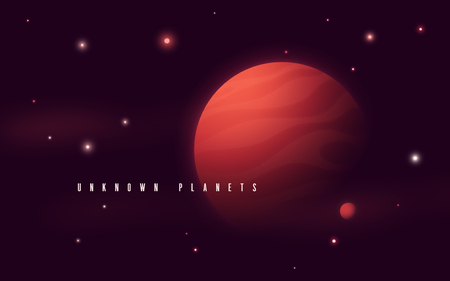 Deep space sci-fi abstract vector illustration, background, poster.