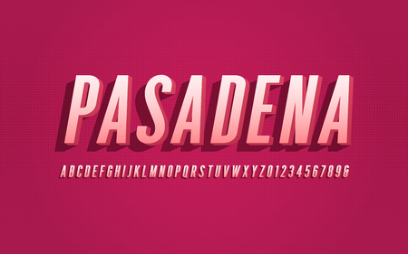 Stylized san serif condensed vector alphabet, font, typeface, le
