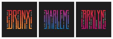 Bronx Harlem Brooklyn NYC boroughs t-shirt and apparel grunge st