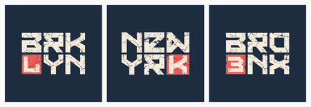 Brooklyn Bronx New York t-shirt and apparel grunge style vector