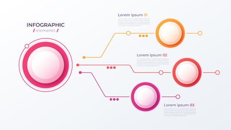 Vector 3 options infographic design, structure chart, presentation template