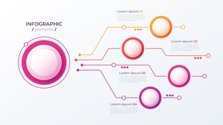 Vector 4 options infographic design, structure chart, presentation template