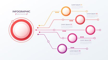 Vector 5 options infographic design, structure chart, presentation template