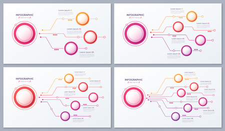 Vector 3 4 5 6 options infographic designs, structure charts.