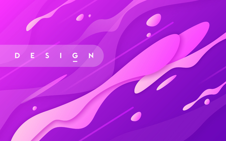 Abstract gradient geometric design, colorful wavy minimal background. Vector illustration.
