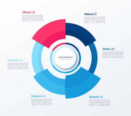 Vector circle chart design, modern template for creating infographics, presentations, reports