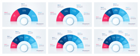 Vector circle chart design, modern templates for creating infographics, presentations, reports, visualizations