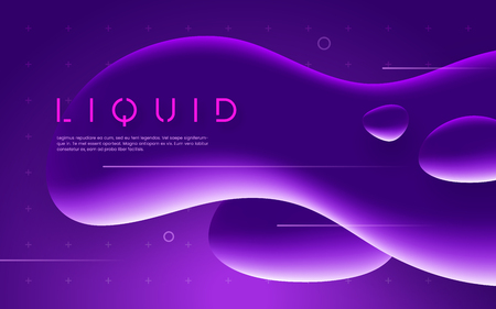 Ultraviolet futuristic design with neon liquid bubble shapes. Vector illustration.