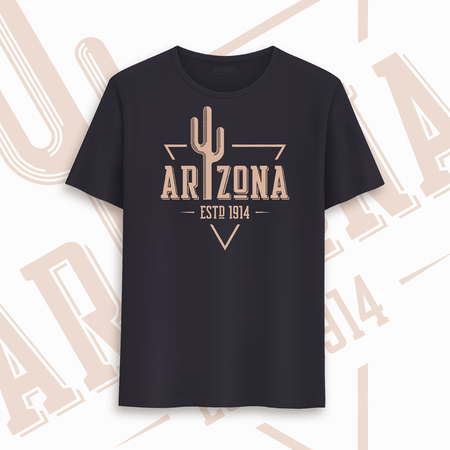 Arizona state graphic t-shirt design, typography, print. Vector illustration