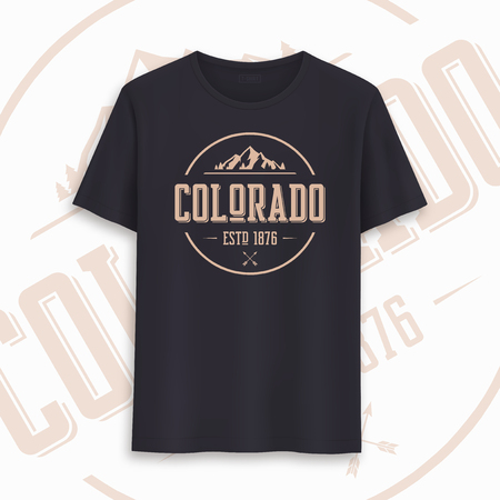Colorado state graphic t-shirt design, typography, print. Vector illustration