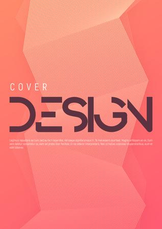 Diseño de cubierta geométrica degradada minimalista. Ilustración de vector.