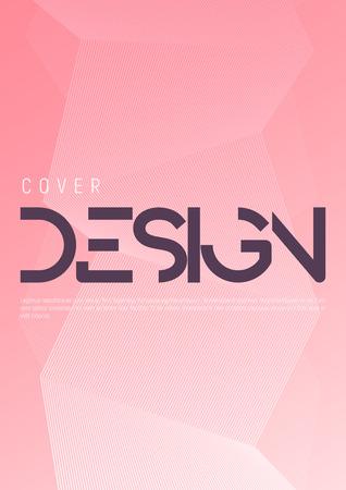 Minimalist gradient geometric cover design. Vector illustration.