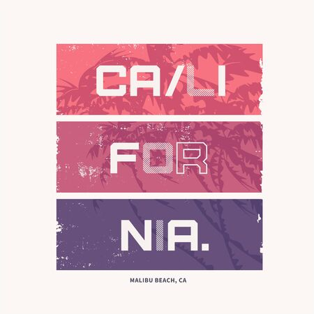 Graphic t-shirt design on the topic of California. Vector illustration Reklamní fotografie - 125018869