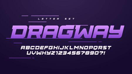 Trendy urban style sport vector alphabet, uppercase letter set, font, typography Ilustrace