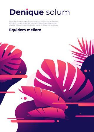 Abstract tropical vector background, brochure template, cover design, colorful poster Illusztráció