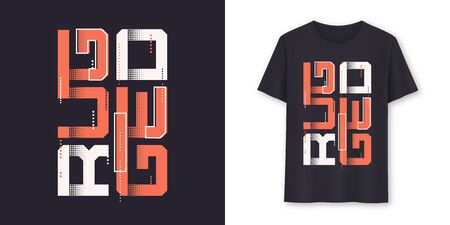 Rugged graphic modern t-shirt vector design, typography