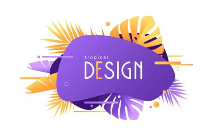 Vector geometric tropical background, decoration and presentation design, sale banner Standard-Bild - 132049759