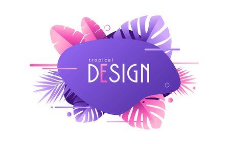 Vector geometric tropical background, decoration and presentation design, sale banner Ilustrace