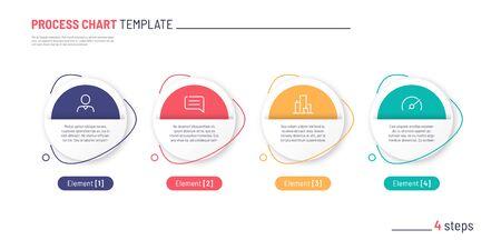 Vector infographic process chart template. Four steps Standard-Bild - 132046823