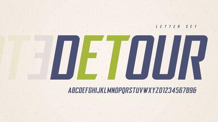 Stylish sans serif italic vector alphabet, uppercase letter set, font, typography 向量圖像
