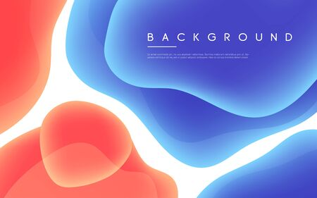 Abstract minimalist vector background with colorful liquid bubble shapes