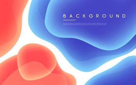 Fond de vecteur minimaliste abstrait avec des formes de bulles liquides colorées