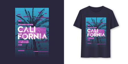 California stylish graphic t-shirt vector design, poster, typography