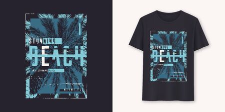 Florida stunning beach stylish graphic t-shirt vector design, typography Çizim