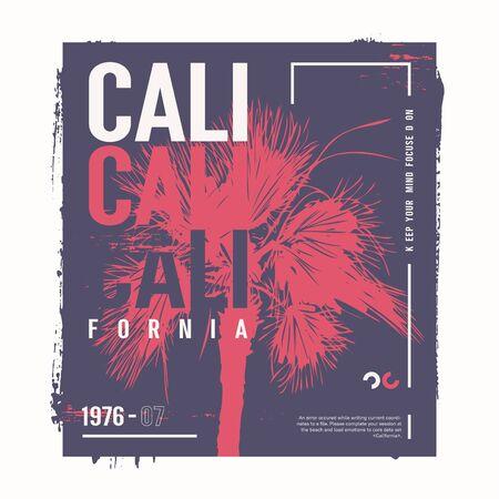 California vector graphic t-shirt design, poster, print
