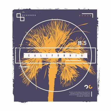 California Redondo vector graphic t-shirt design, poster, print