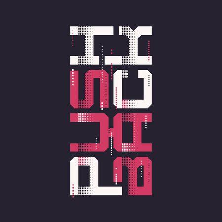 Push back graphic t-shirt vector design, typography.