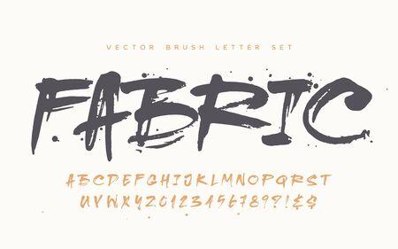 Catchy handwritten modern vector brush letter set for quotes, apparel, branding, packaging