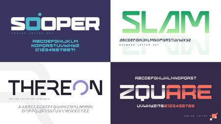 Vector modern uppercase letter sets with a different styles