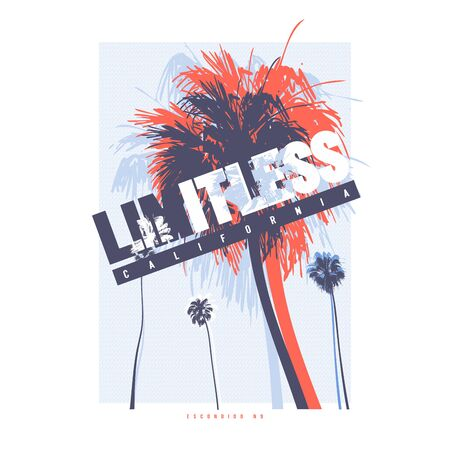Limitless California vector graphic t-shirt design, poster, print
