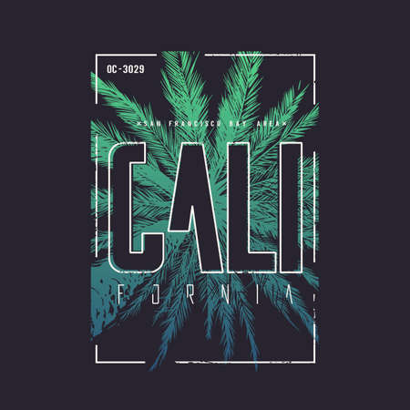 California San Francisco vector t-shirt design, poster, print. 일러스트