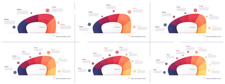Vector pie chart infographic templates in the form of abstract shape.