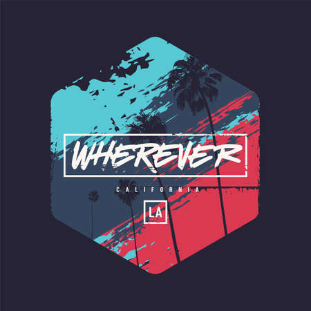 Wherever colorful vector t-shirt design, poster, print