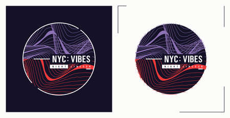NYC vibes t shirt vector abstract design, poster, print, template