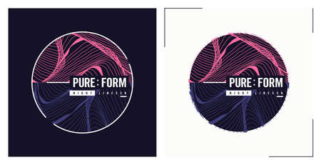 Pure form t shirt vector abstract design, poster, print, template