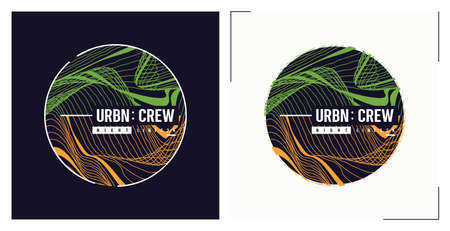 Urban crew t shirt vector abstract design, poster, print, template