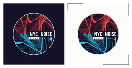 NYC noise t shirt vector abstract design, poster, print, template Illusztráció
