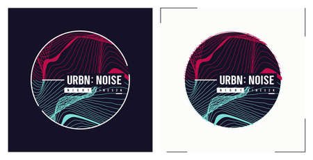 Urban noise t shirt vector abstract design, poster, print, template
