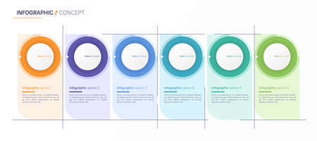 Vector infographic design template. Six options