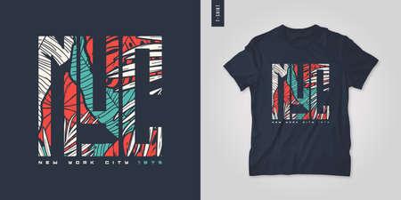 New York City. T-shirt vector design, poster, print, template 矢量图像